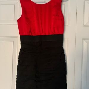 Express Red and Black dress
